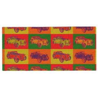 Colorful Mg Tc Antique Car Pop Art Wood USB 2.0 Flash Drive