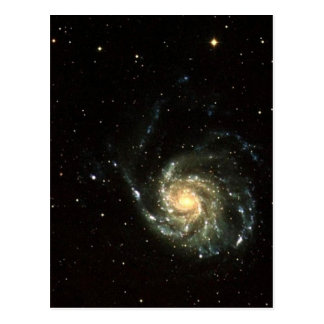 colorful milky way galaxy solar system postcard