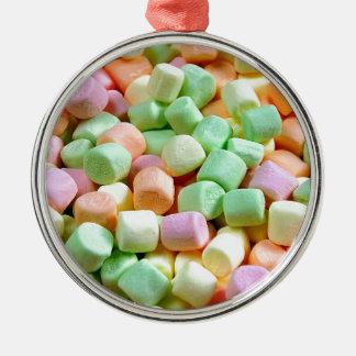 Colorful miniature marshmallows christmas ornament