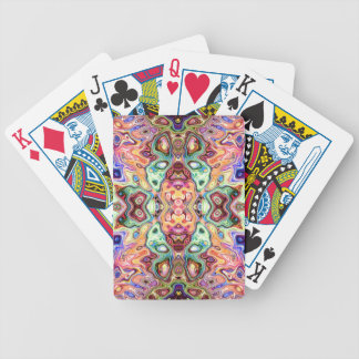 Colorful Mirror Image Abstract Bicycle Playing Cards