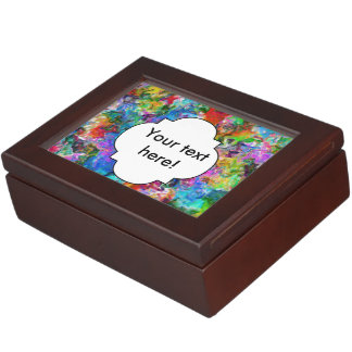 Colorful mix abstract design keepsake box