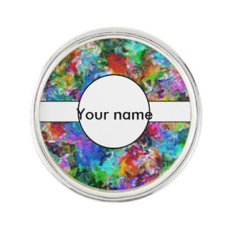 Colorful mix abstract design lapel pin