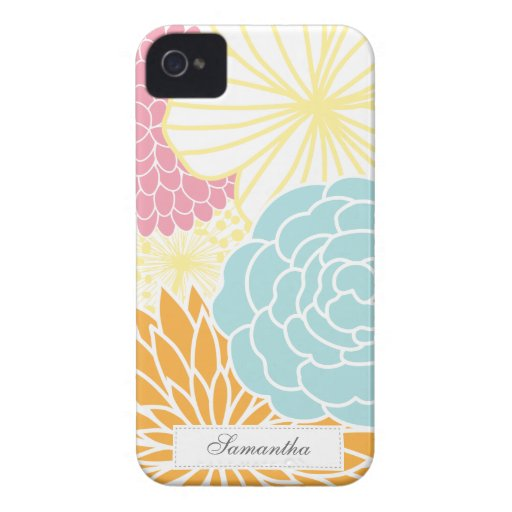 Colorful Mod Florals iPhone 4 Case