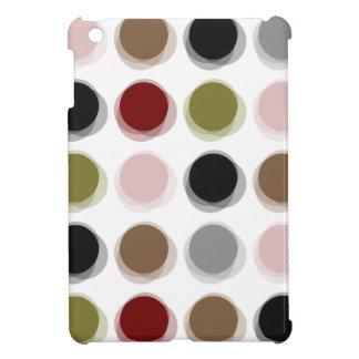 Colorful Mod Fuzzy Pop Dots Pattern iPad Mini Case