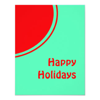 Colorful Mod Happy Holidays 4.25x5.5 Paper Invitation Card