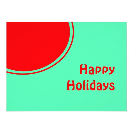 Colorful Mod Happy Holidays Invitations