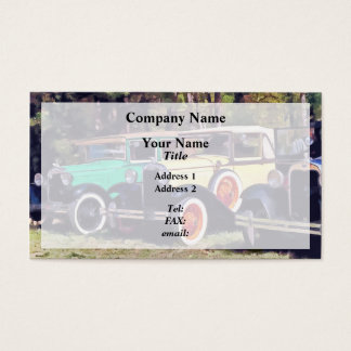 Colorful Model A's Business Card