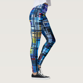 Colorful Modern Abstract Leggings