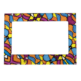 Colorful Modern Abstract Pattern Magnetic Frame