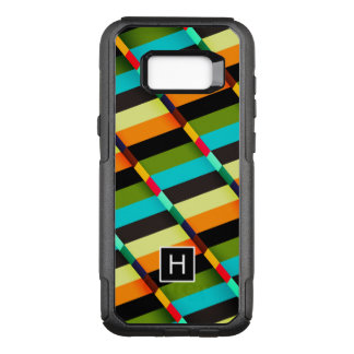 Colorful Modern Abstract Stripes & Monogram OtterBox Commuter Samsung Galaxy S8+ Case