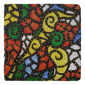 Colorful Modern Abstract Trivet