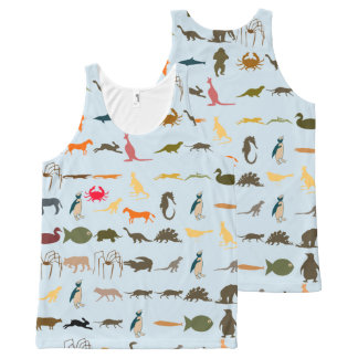 Colorful Modern Animals #13 All-Over Print Singlet