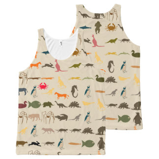 Colorful Modern Animals #14 All-Over Print Singlet