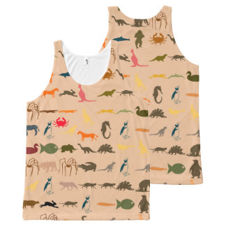 Colorful Modern Animals #2 All-Over Print Singlet