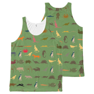 Colorful Modern Animals #7 All-Over Print Singlet