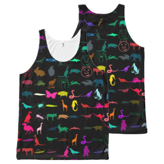 Colorful Modern Animals All-Over Print Singlet