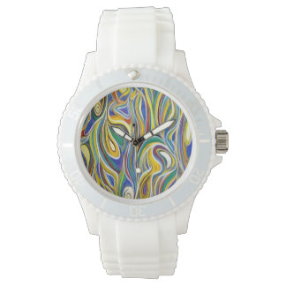Colorful Modern art Watches