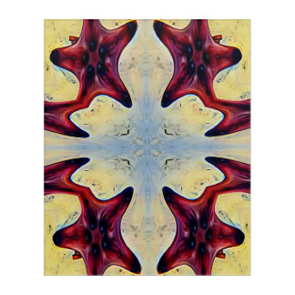 Colorful Modern Artistc Star Fish Acrylic Print