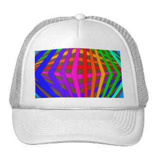 Colorful Modern Bold Spectrum Geometric Fun 1 Hats