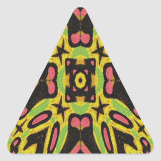 Colorful modern cool pattern triangle sticker