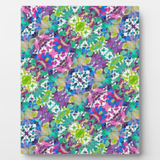 Colorful Modern Floral Print Plaque