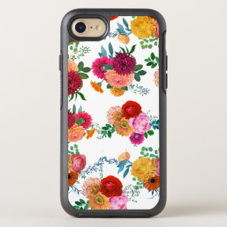Colorful Modern Flowers Watercolors Illustration OtterBox Symmetry iPhone 8/7 Case