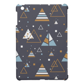 Colorful Modern Geometric Triangles Pattern Case For The iPad Mini