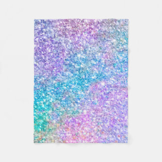 Colorful Modern Glitter Texture Fleece Blanket