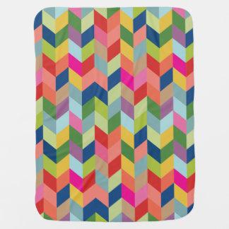 Colorful Modern Herringbone Baby Blanket