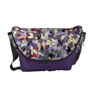 Colorful Modern Leaf Pattern Commuter Bag