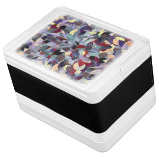 Colorful Modern Leaf Pattern Cooler