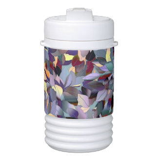 Colorful Modern Leaf Pattern Drinks Cooler