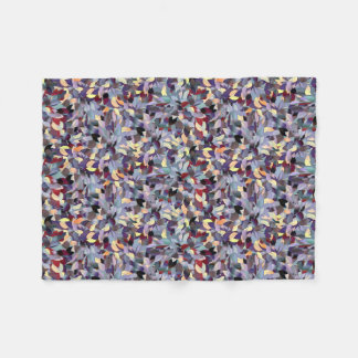 Colorful Modern Leaf Pattern Fleece Blanket