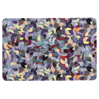 Colorful Modern Leaf Pattern Floor Mat