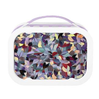Colorful Modern Leaf Pattern Lunch Box