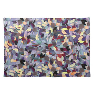 Colorful Modern Leaf Pattern Placemat