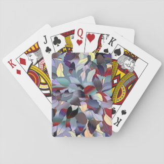 Colorful Modern Leaf Pattern Playing Cards