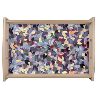 Colorful Modern Leaf Pattern Serving Trays