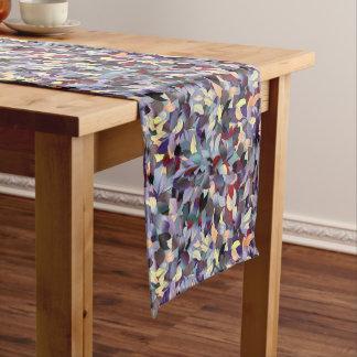 Colorful Modern Leaf Pattern Short Table Runner