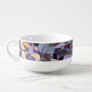 Colorful Modern Leaf Pattern Soup Mug