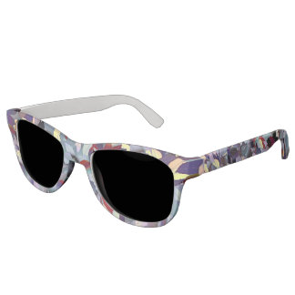 Colorful Modern Leaf Pattern Sunglasses