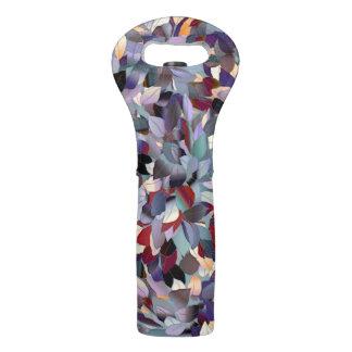Colorful Modern Leaf Pattern Wine Bag