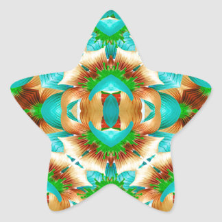 Colorful Modern Pattern Collage Star Sticker