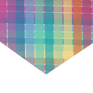 Colorful Modern Rainbow Plaid Stripes Tissue Paper