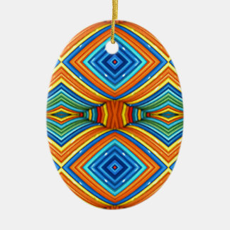 Colorful Modern Southwest Pattern Ceramic Ornament