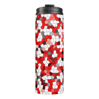 Colorful Modern Stained Glass Pattern Thermal Tumbler