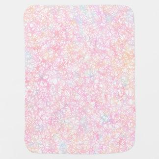 Colorful Modern Strings - Pearl Pastel Baby Blanket