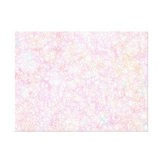 Colorful Modern Strings - Pearl Pastel Canvas Print