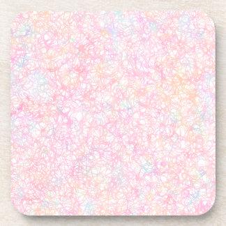 Colorful Modern Strings - Pearl Pastel Coaster