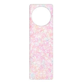 Colorful Modern Strings - Pearl Pastel Door Hanger